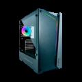 CASE GAMBYTE XCARET ( GTA90420A ) S/ FUENTE | NEGRO C/ PLATA | 1 PANEL VIDRIO | 1 COOLER ARGB + LED ARGB ADELANTE
