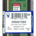 MEMORIA KINGSTON KVR26S19S8/8, 8GB, DDR4, SO-DIMM, 2666 MHZ, CL19, NON-ECC, 1.2V.
