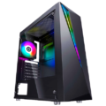 CASE FLASH CF RGB GAMER C/FUENTE 500W VIDRIO TEMP