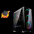 CASE MAGIC MIRROR RGB GAMER C/FUENTE 500W VIDRIO TEMP