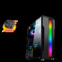 CASE SPARTA 841 RGB GAMER C/FUENTE 450W VIDRIO TEMP