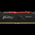 MEMORIA KINGSTON FURY BEAST RGB DDR4 8GB 3200MHZ BLACK